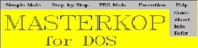 Вікно Help в інтерфейсному середовищі MasterKop
