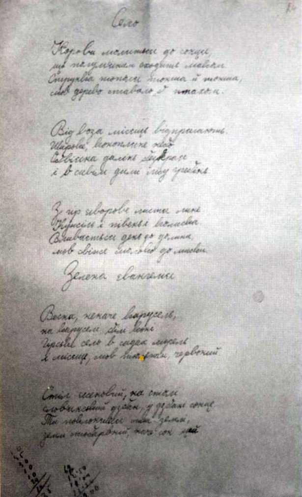 Галерея Б.-І. Антонича - «Село»,…