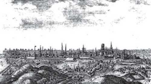 Вид Гданська-Данцига близько 1780 року