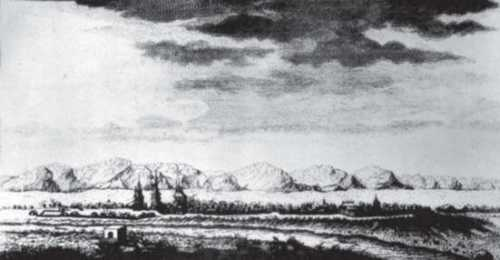 Вид на місто Нерчинськ. Гравюра М. Махаєва. XVIII ст.