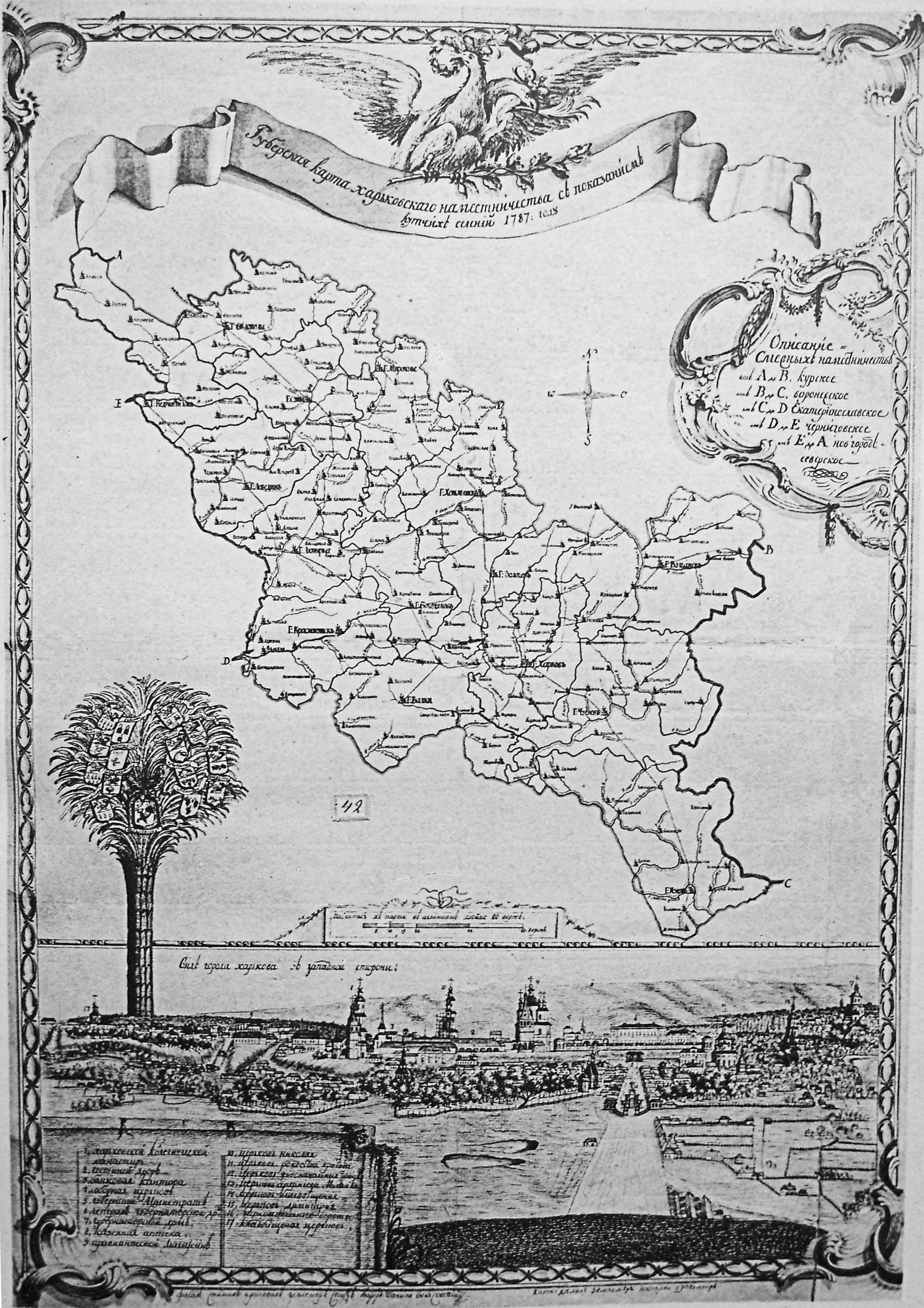 Карта Харківського намісництва 1787 р.