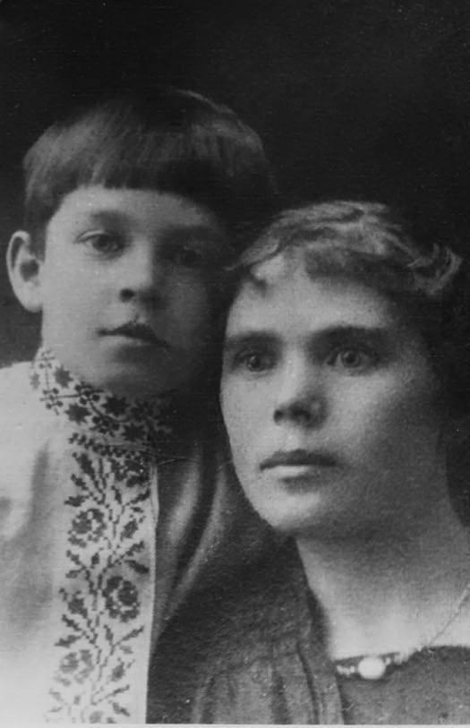 Прасковья Кирий с сыном (1916 г.)