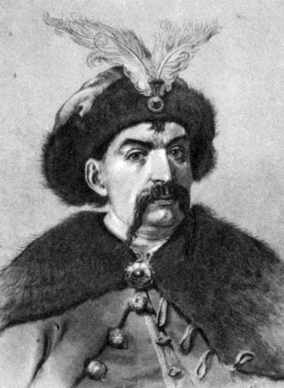 Богдан Хмельницкий. Рис. И. Ф. Манца (1963)