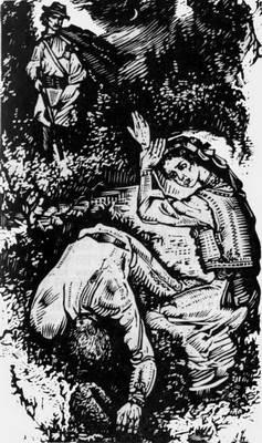 Максим убиває цигана. Ілюстрація Я. В.…