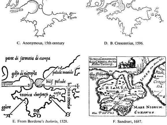 Эволюция картографических изображений Крыма по Л. Багрову