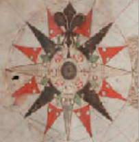 Рис. 6.1. Компасна роза. Морська карта, 1563