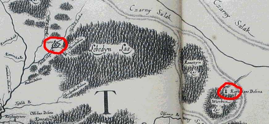 Капустина Долина на Специальной карте Украины Г.Л. де Боплана 1650 г.
