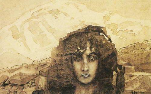 Демон на фоне гор (иллюстрация к поэме…