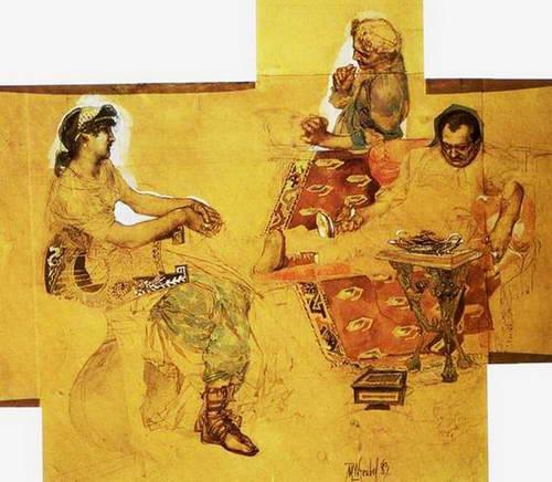 Пирующие римляне.1883 г.