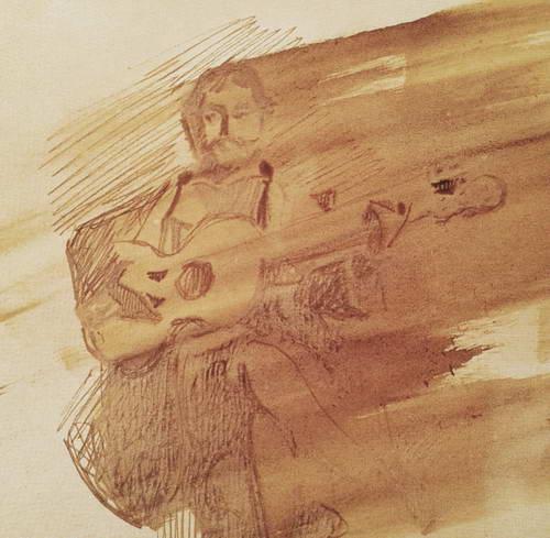 Автопортрет с гитарой. 1885 г.