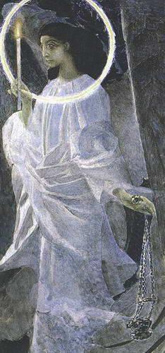 Ангел с кадилом и свечой. 1887 г.