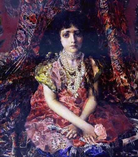 Портрет девочки на фоне персидского…