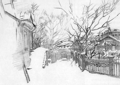 Зимний дворик. 1903 г.