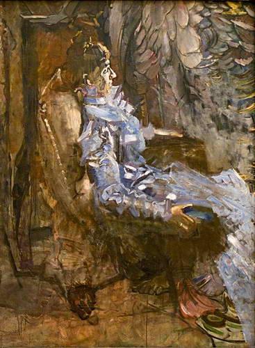 Дама в лиловом. Портрет Н.И. Врубель.…