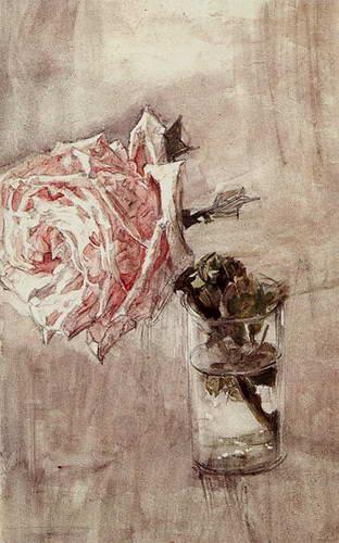 Роза в стакане. 1904 г.