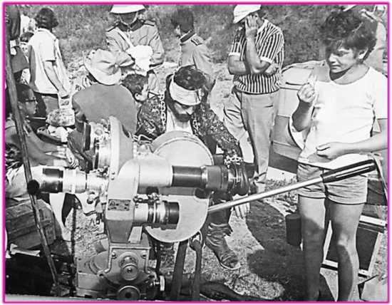 На зйомках фільму «Капітан Немо» (1975)