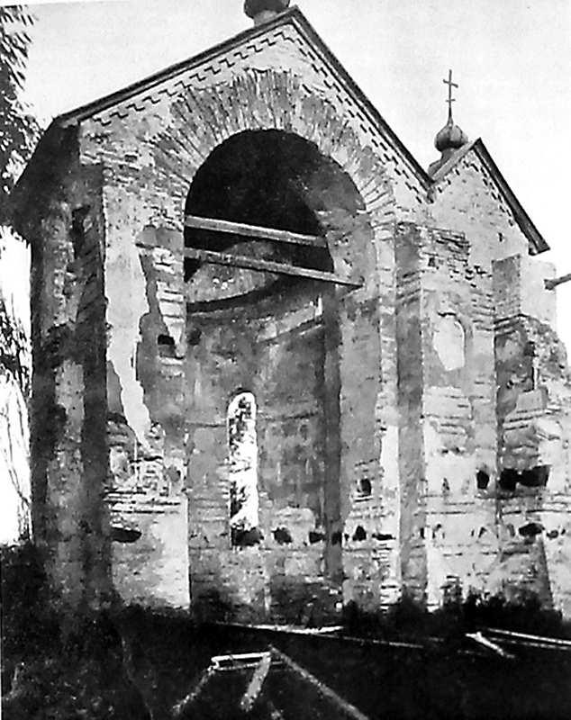 Остер. Церква св.Михаїла. Апсида з північного заходу. Початок ХХ ст., після ремонту.