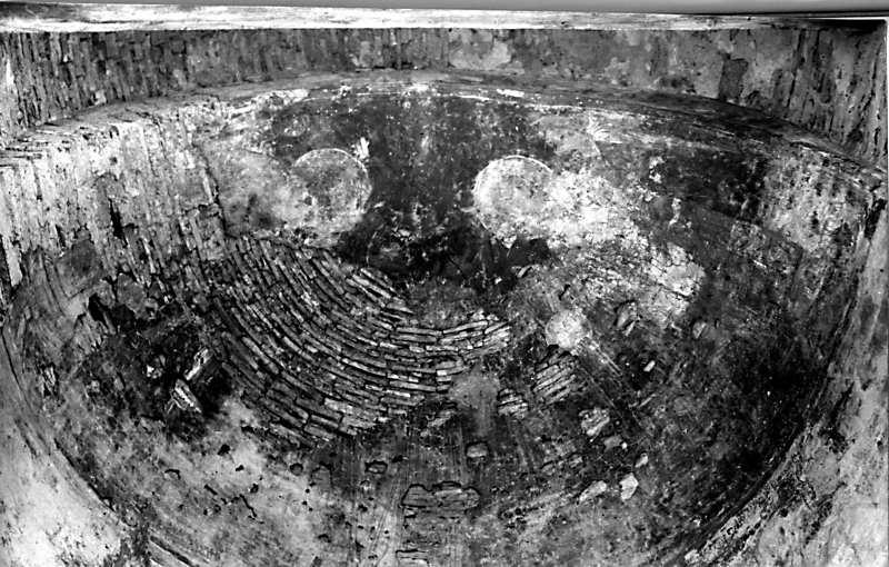 Остер. Церква св.Михаїла. Конха апсиди. Загальний стан фресок 1954 р. (?)