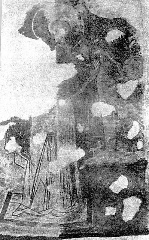 Остер. Церква св.Михаїла. Богородиця-Оранта. Акварель Е. Н. та А. В.Половцевих. 1893 р.