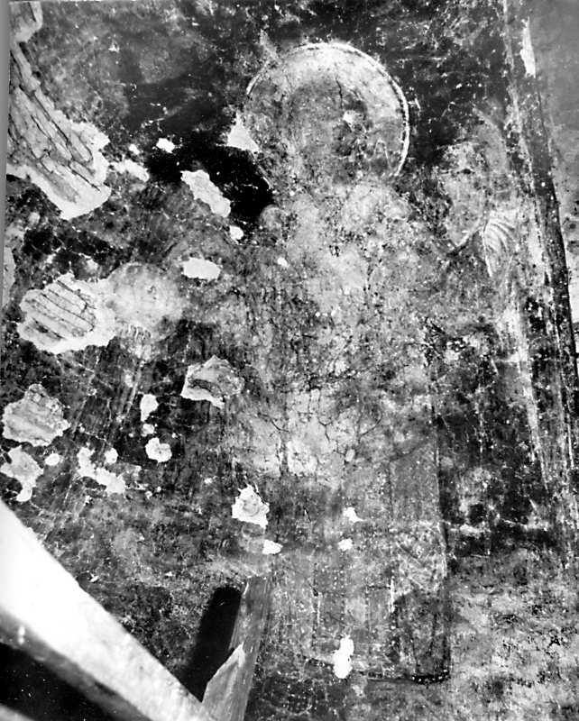Остер. Церква св.Михаїла. Архангел на південному схилі конхи. Стан 1977 р.