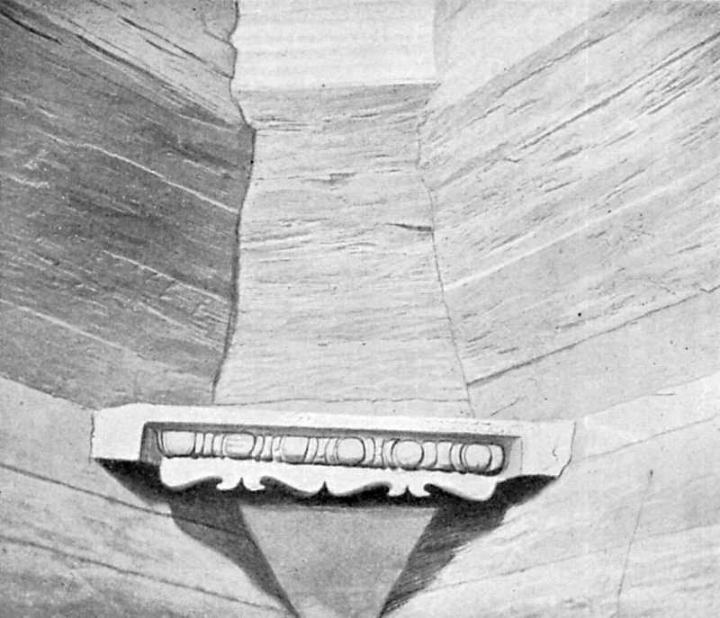Брусковая скоба в углу верхнего венца церковного сруба. С. Белашки Уманского уезда, 1763 г.