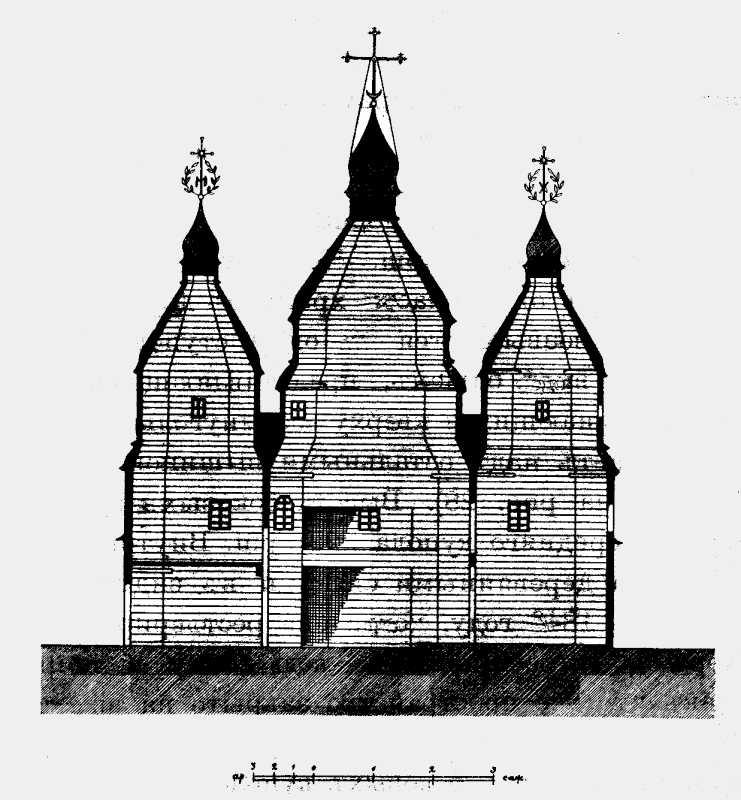 Розріз Успенської церкви в м. Яришеві