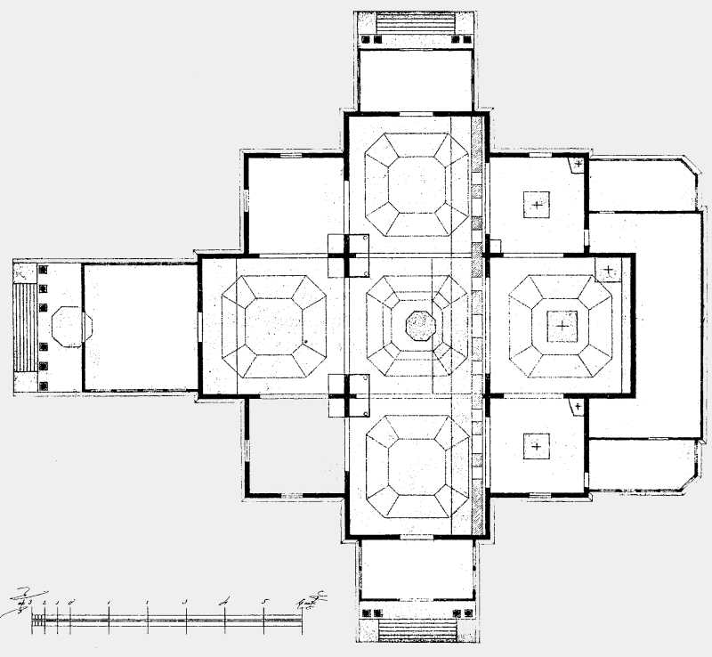 План Николаевской соборной церкви в Медведовском монастыре Чигиринского уезда.