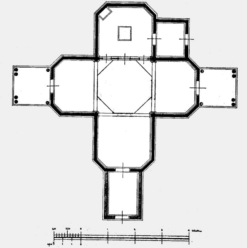План церкви Рождества Пресв. Богородицы в м. Ходорове Каневского уезда