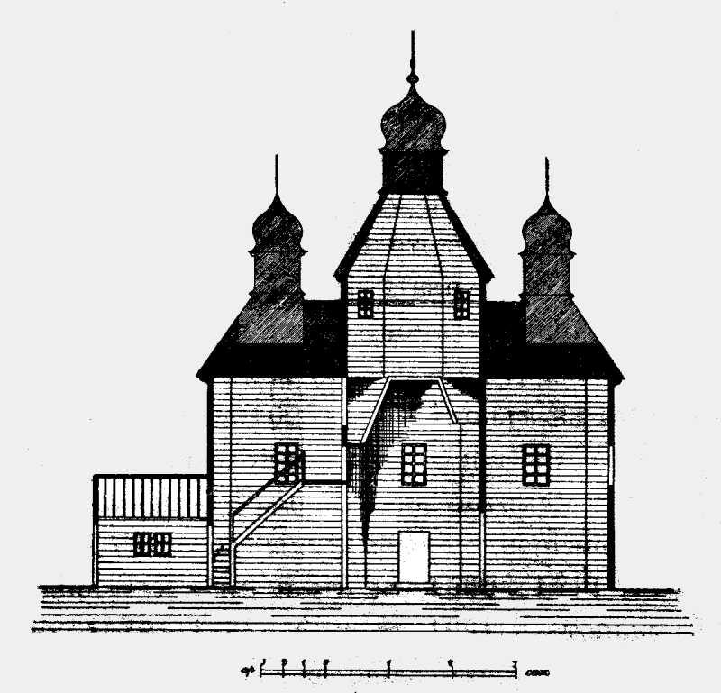 Розріз церкви в м. Ходорові