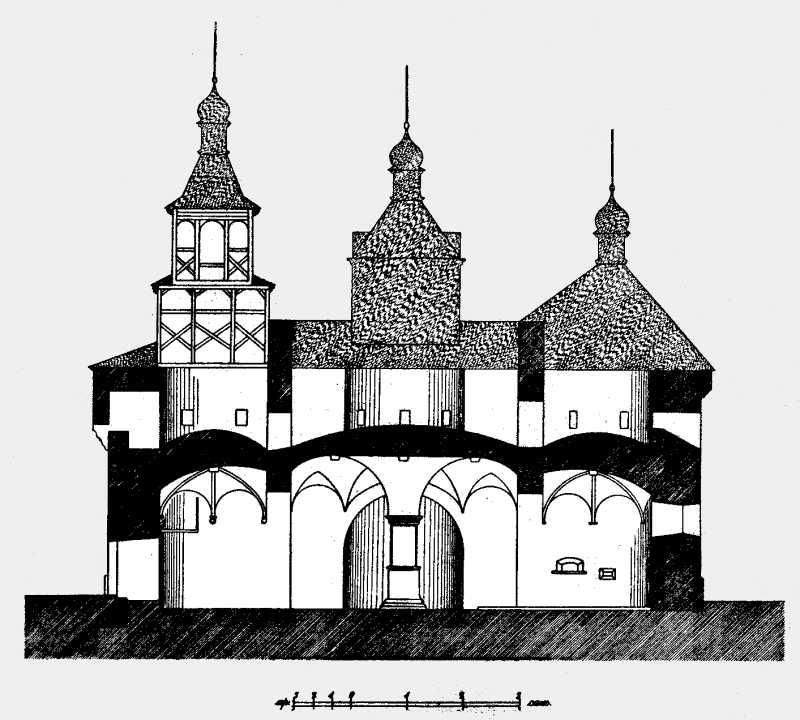 Павлуцкий Г. Г. - Разрез церкви в с.…