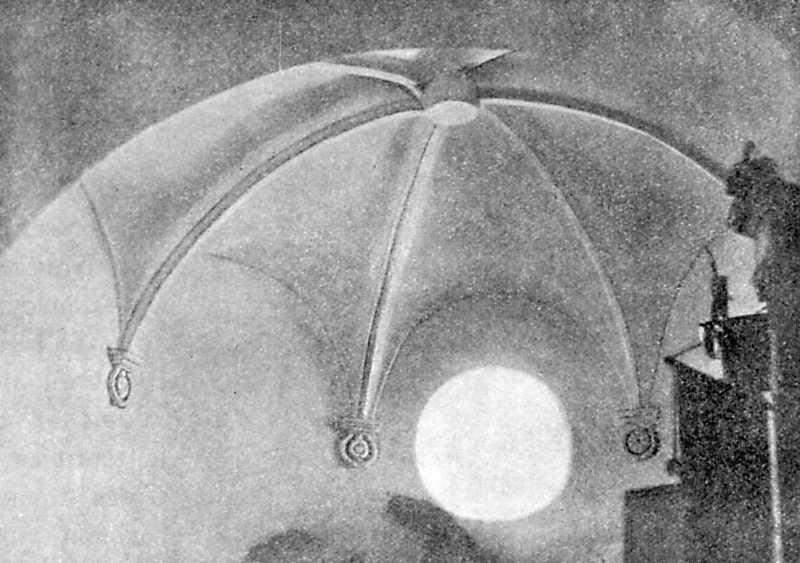 Свод боковой абсиды в церкви во имя Покрова Пресв. Богородицы в Сутковцах Летичевского уезда Подольской губ.