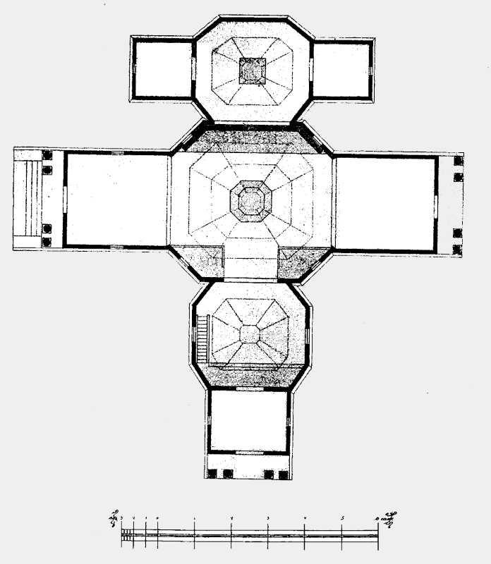 План старой соборной церкви в г. Тараще Киевской губ.