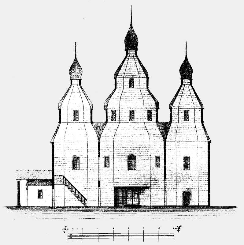 Разрез старой соборной церкви в г. Тараще Киевской губ.