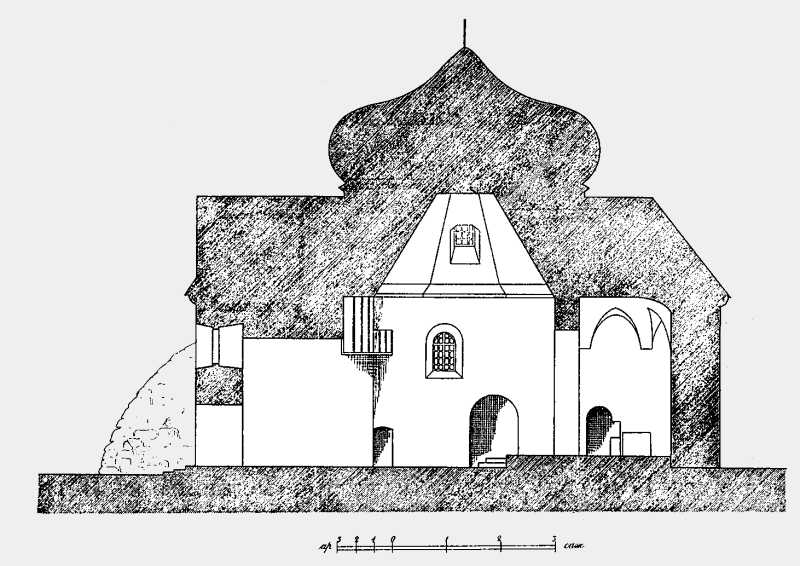 Разрез Троицкой церкви в м. Зинькове Летичевского уезда Подольской губ.