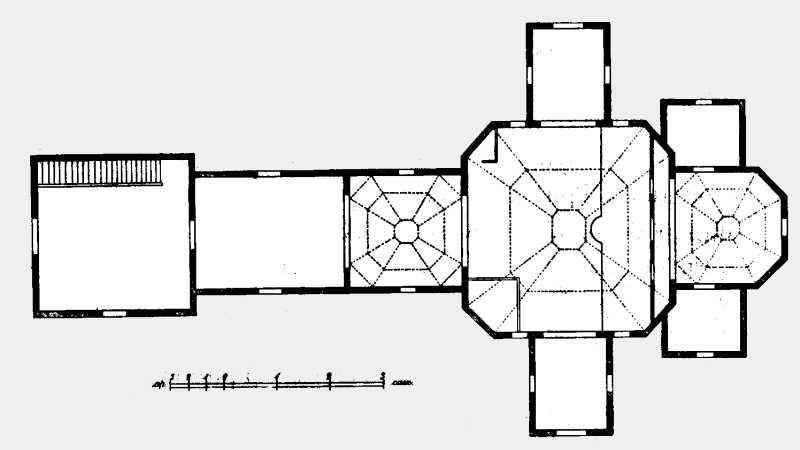 План Введенской церкви в м. Трипольи Киевского уезда Киевской губ.