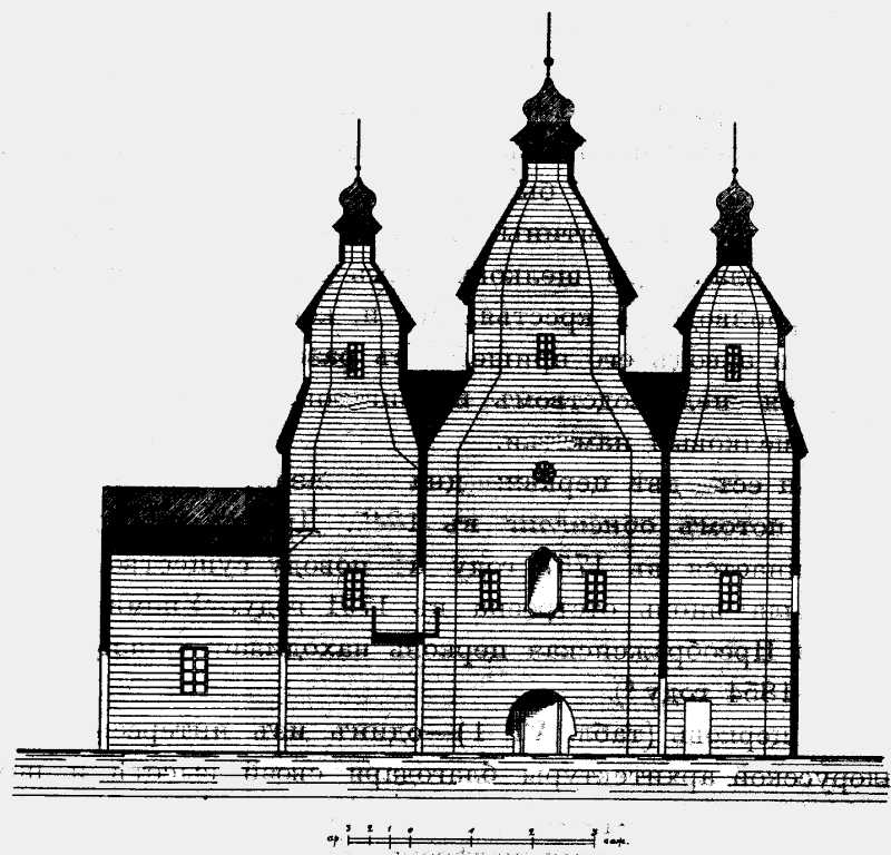 Разрез Введенской церкви в м. Трипольи Киевского уезда Киевской губ.