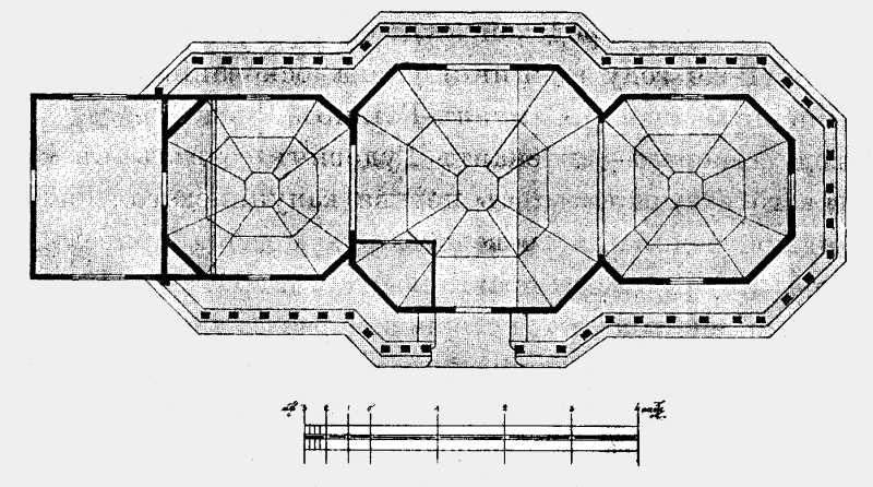 План Николаевской церкви в Старой Виннице (части г.Винницы Подольской губ.)