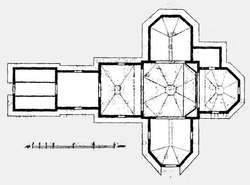 План Петропавловской церкви в м. Чуднове Житомирского уезда Волынской губ.