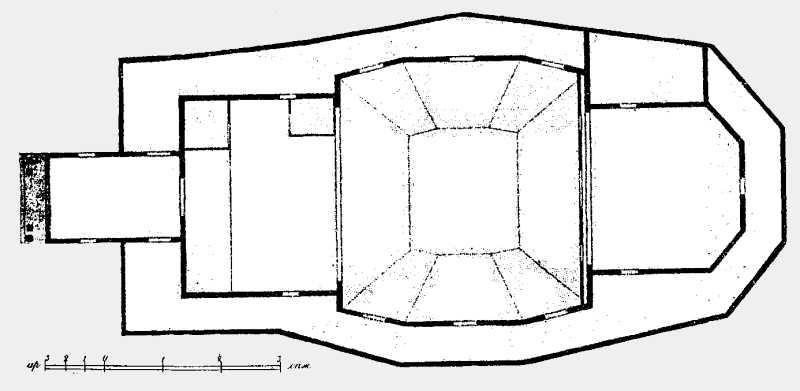 План Троицкой церкви в м. Полонном