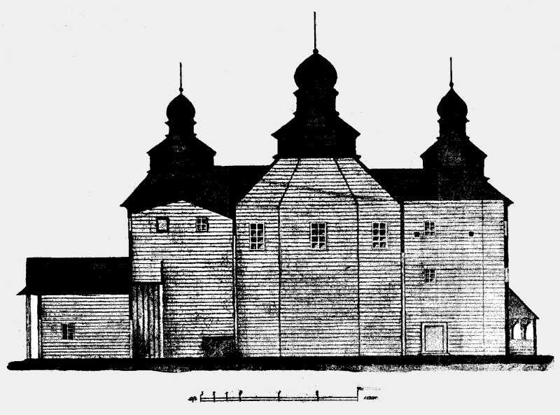 Разрез Троицкой церкви в м. Полонном