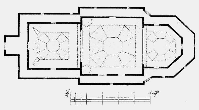 План Преображенской церкви в м. Полонном