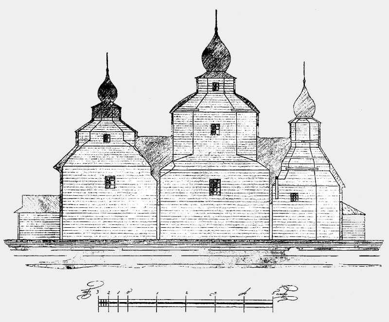 Разрез Преображенской церкви в м. Полонном Новоградволынского уезда Волынской губ.