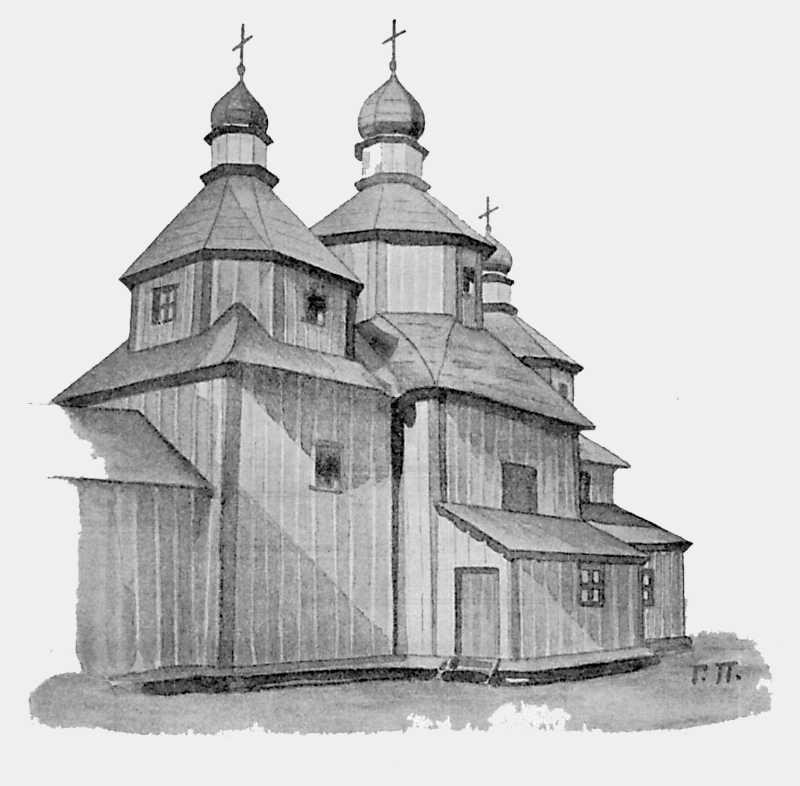 Успенская церковь в м. Полонном Новоградволынского уезда Волынской губ.