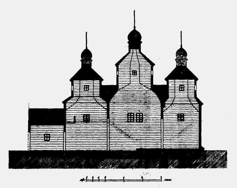 Разрез Успенской церкви в м. Полонном Новоградволынского уезда Волынской губ.