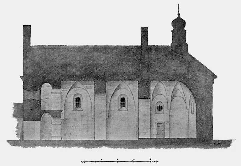 Разрез Ильинской церкви в с. Субботове Чигиринского уезда Киевской губ.