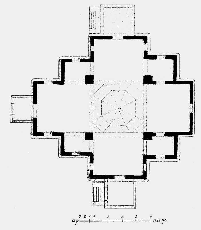 План Троицкой церкви в Мотронинском монастыре Чигиринского уезда Киевской губ.