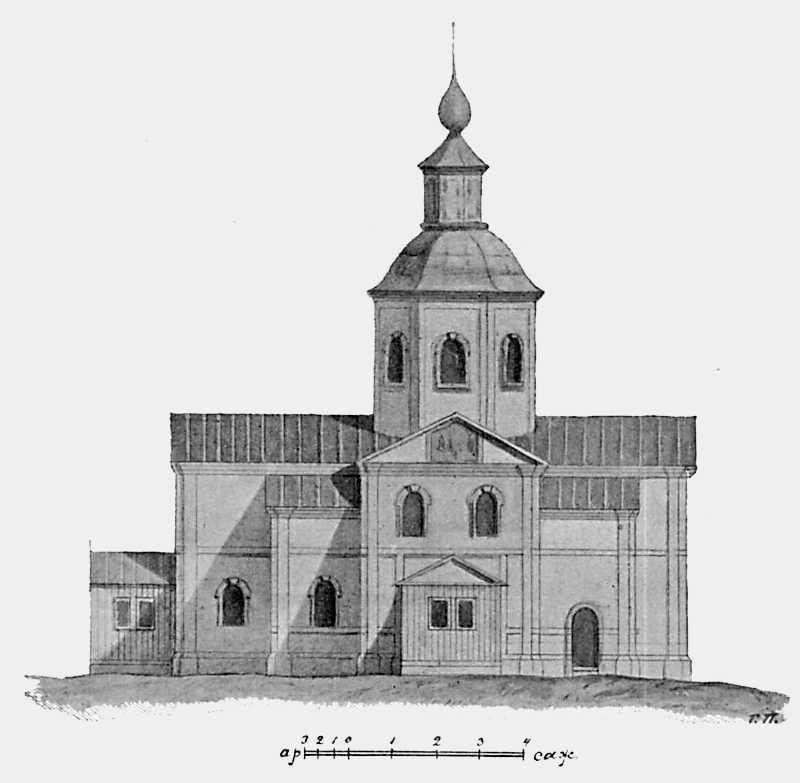 Фасад Троицкой церкви в Мотронинском монастыре Чигиринского уезда Киевской губ.