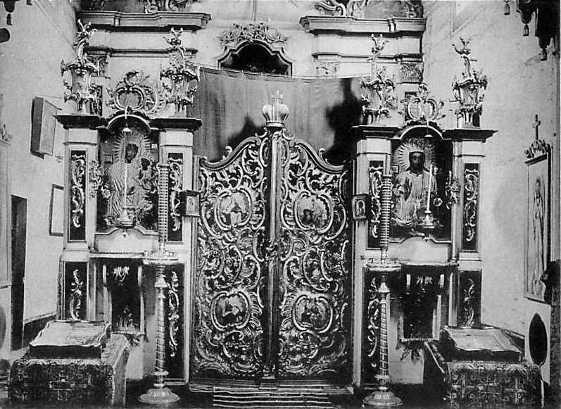 Иконостас Св.-Михайловской церкви в м. Чемерисах Волоских Могилевского уезда Подольской губ.