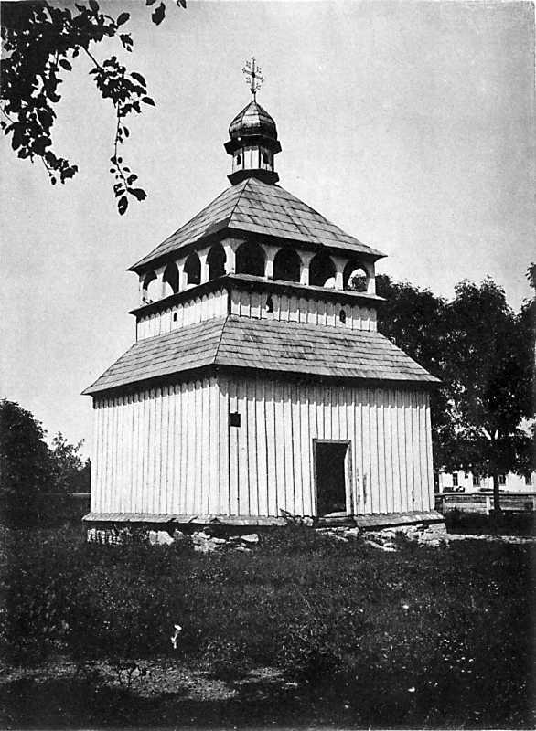Колокольня Преображенской церкви в м. Полонном Новоградволынского уезда Волынской губ.