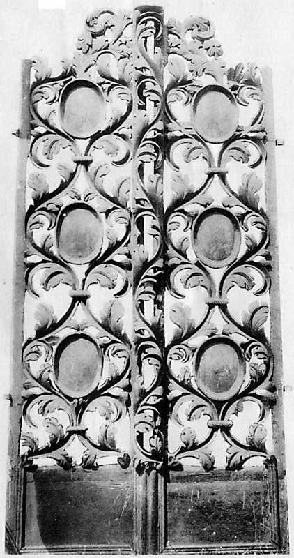 Царские врата, которые хранились в Михайловской церкви в м. Зинькове Летичевского уезда Подольской губ.
